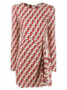 P.A.R.O.S.H. unicorn print dress - Red