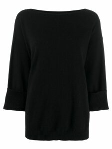 P.A.R.O.S.H. cropped sleeves jumper - Black