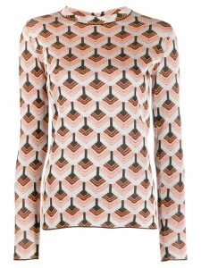 Paco Rabanne knitted wool top - Silver