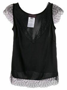 Talbot Runhof lace contrast blouse - Black