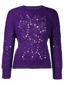 Isabel Marant Étoile cut out holes jumper - Purple