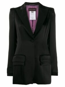 Talbot Runhof single-breasted blazer - Black