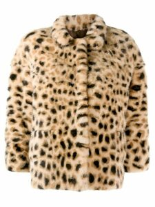 Simonetta Ravizza leopard-print jacket - Neutrals