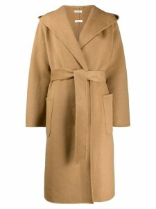 P.A.R.O.S.H. oversized collar trench coat - Brown