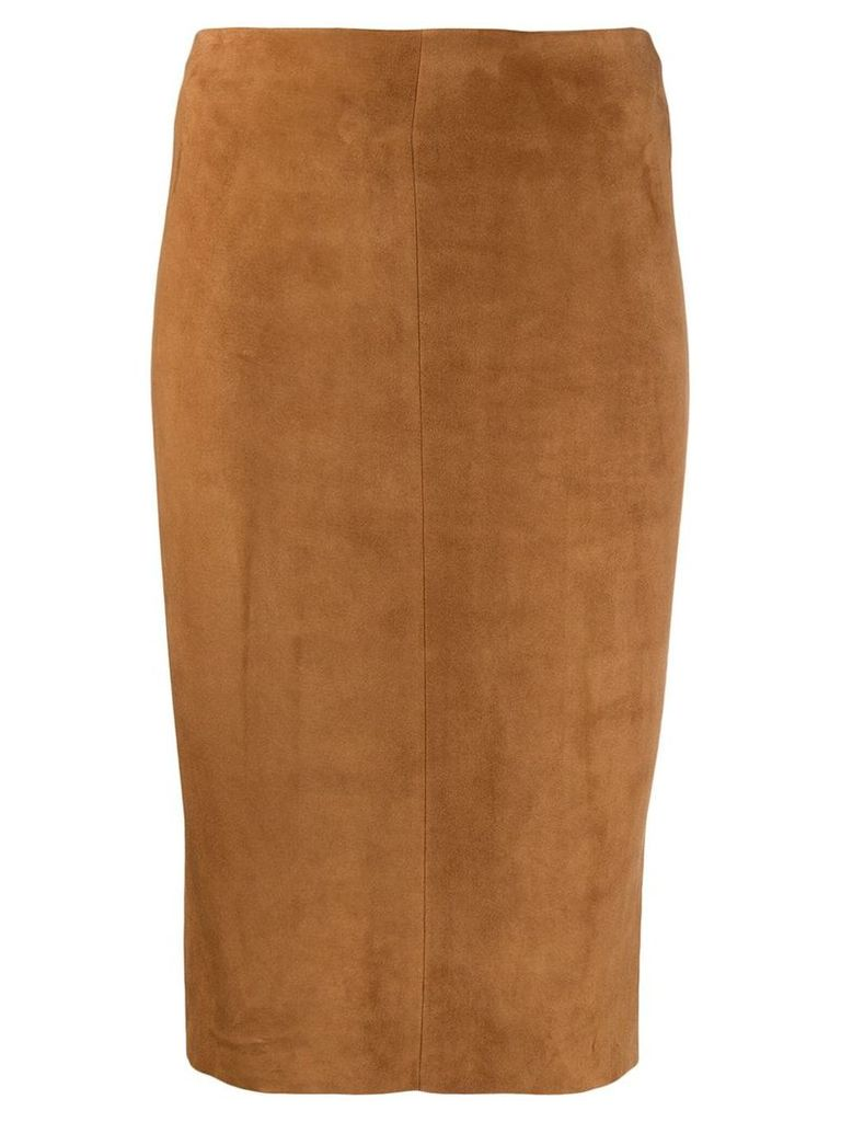 Drome high-rise pencil skirt - Brown