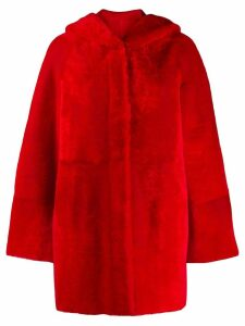 Drome reversible faux fur coat - Red