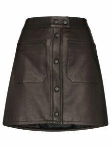 FRAME patch pocket mini-skirt - Black
