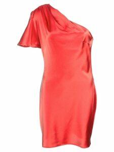 Fleur Du Mal short one-shoulder dress - Red