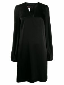 Talbot Runhof flared v-neck dress - Black