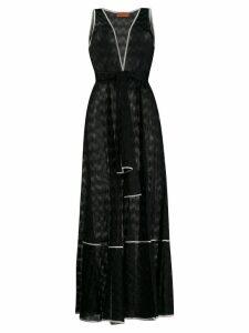 Missoni belted V-neck long dress - Black