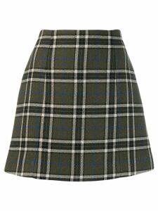 Alexa Chung checked a-line skirt - Green