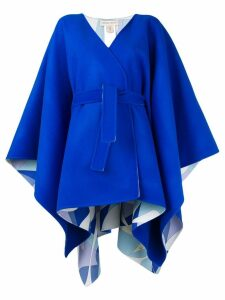 Emilio Pucci Blue Belted Waist Wool Coat