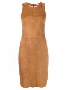 Drome sleeveless midi dress - Brown