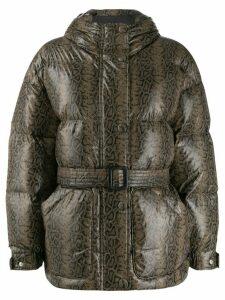 Ienki Ienki snake print puffer jacket - Grey