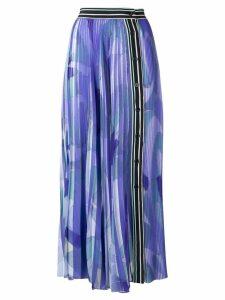 Emilio Pucci Alex Print Plissé Midi Skirt - Blue