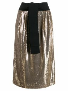 P.A.R.O.S.H. sequin straight skirt - Gold
