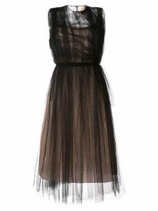 Nº21 ruffled tulle dress - Black