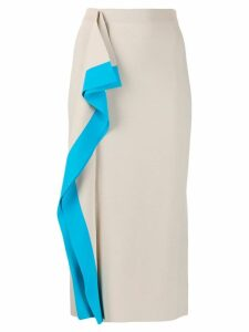 MRZ draped panel midi skirt - Neutrals