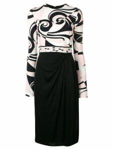 Emilio Pucci Fortuna Print Dress - Black