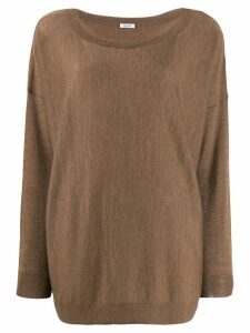 P.A.R.O.S.H. boat neck jumper - Brown