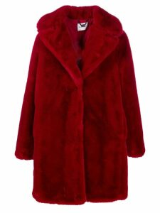 be blumarine faux fur coat - Red