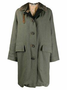 Dusan buttoned parka coat - Green
