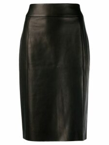 Drome front slit pencil skirt - Black
