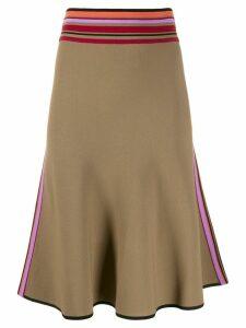 Diane von Furstenberg Roseha banded A-line skirt - Brown