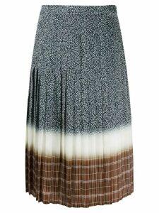 Tory Burch pleated midi-skirt - Blue