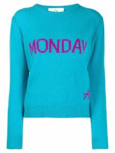 Alberta Ferretti Monday intarsia jumper - Blue