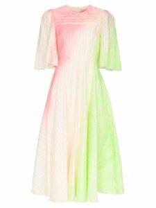 Roksanda Raeya ripple-effect jacquard midi dress - Multicolour