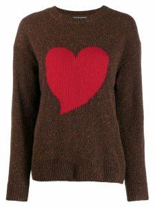 Alexa Chung heart intarsia jumper - Brown