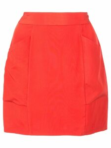 Fleur Du Mal high-waisted mini skirt - Red