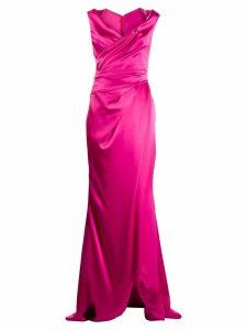 Talbot Runhof draped long dress - Pink