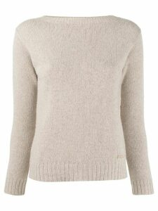Prada boat neck jumper - Brown