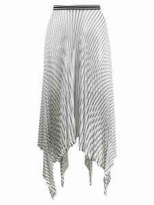 MRZ pleated asymmetric skirt - White