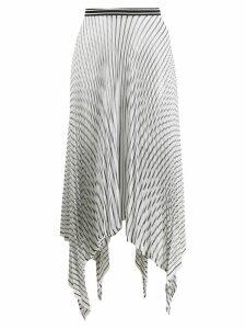 MRZ pleated asymmetric skirt - White