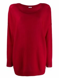 P.A.R.O.S.H. boat neck jumper - Red