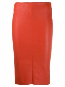 Drome high-rise pencil skirt - ORANGE
