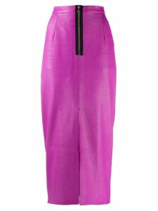 Natasha Zinko zip detail midi skirt - Purple