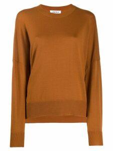 Enföld side slit knit top - Brown