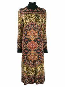 Etro paisley print knit dress - Black