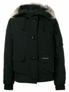 Canada Goose zipped hooded coat - 61 Black