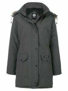 Canada Goose fur hooded coat - Grey
