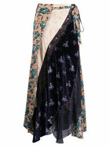 Chloé multi-panel wrap skirt - Neutrals