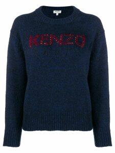 Kenzo embellished logo jumper - Blue