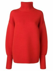 Victoria Victoria Beckham curved sleeve turtleneck - Red