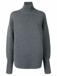 Victoria Victoria Beckham curved sleeve turtleneck - Grey
