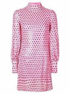 Olivia Rubin sequin polka-dot dress - PINK