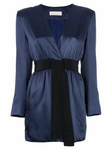 Fleur Du Mal short wrap-style dress - Blue